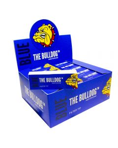 Caixa de Piteira de Papel The Bulldog Amsterdam Blue